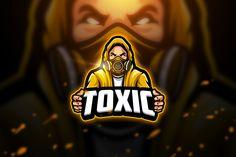 Toxic 2 - Mascot & Esport Logo by aqrstudio on Envato Elemen.- Toxic 2 – Mascot & Esport Logo by aqrstudio on Envato Elements Toxic 2 – Mascot & Esport Logo by aqrstudio on Envato Elements - Coreldraw, Resume Designer, Logo Esport, Video Game Logos, Team Logo Design, Sport Design, Team Mascots, Envato Elements, Graffiti Designs