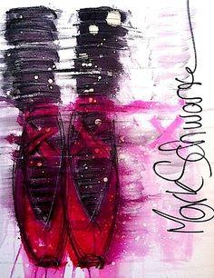 Ballett Rouge - Mark Schwartz  #shoes  #ballet  #art  #www.highheeledart.com