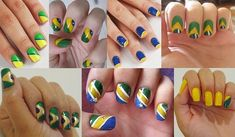 Google Search #prom world cup nail art #Brazil