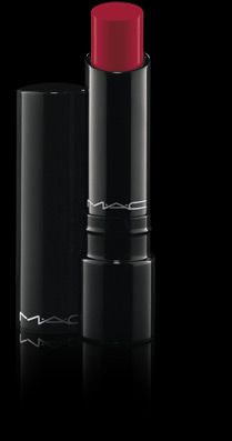 Sheen Supreme in New Temptation by Mac. Perfect for red lips with a shine, can be layered for deeper colour or worn sheer. Smells nice too!