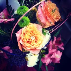 Beautiful Flowers from one sister and made by another!! <3