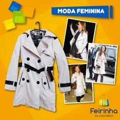 Olha que chic esse sobretudo! TOP, TOP!   #FeirinhadaConcórdia #Love #Chic #Fashion #Tendência