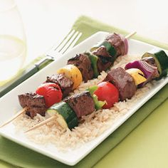 Marinated Veggie Beef Kabobs Recipe | Taste of Home Recipes