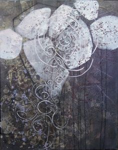 Heartbeat - acrylic collage on canvas - Luna Lee Ray and Shelly Hehenberger