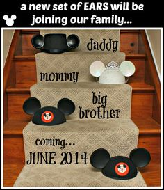 Mickey Ears Pregnancy Announcement!