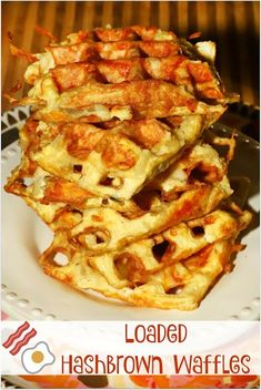 The Rise Of Private Label Brands In The Retail Meals Current Market Loaded Hashbrown Waffles - Filled With Eggs, Bacon, Cheese, And Shredded Hashbrowns Best Breakfast Recipes, Brunch Recipes, Easy Dinner Recipes, Easy Meals, Bread Recipes, Easy Recipes, Good Food, Yummy Food, Delicious Recipes
