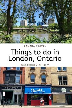 Here are the top places to eat and things to do in London, Ontario, a Canada city with plenty of culture and green space. Backpacking Canada, Canada Travel, Canada Trip, Places To Travel, Places To Visit, Travel Destinations, Hilton Hotel London, Ontario London, Travel