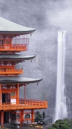Nachi Falls in Nachikatsuura, Japan by MELUSINE.H