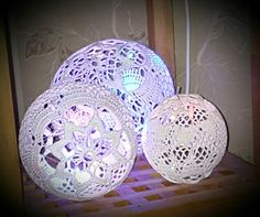 Crochet#lightball#- #Virkad#ljusboll#