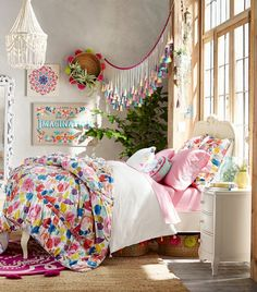 Maisy has such a bright and imaginative personality that we just had to celebrate it in her designs with playful patterns and prints. One of her favorite pieces is the Bohemian Blooms Quilt because she loves to wrap up in it after a long day on set. She designed it to be light-weight so she can snuggle in it during the summer nights without getting too hot. This makes it easy for her to use it all year long!
