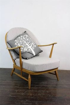Ercol Chair Design Numbers Kid Sized Plastic Adirondack Chairs 205 Best Settees And Images Furniture Windsor Arm Refurb D Blonde Ticking Retro Vintage 578c In Antiques