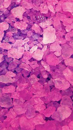 pink crystal rocks