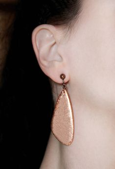 New color Pair of clip on earrings Fashion earrings Copper dangles Minimalist jewelry Wings earring Big dangle Minimal earring Modern gifts https://www.etsy.com/listing/548956692/new-color-pair-of-clip-on-earrings?utm_campaign=crowdfire&utm_content=crowdfire&utm_medium=social&utm_source=pinterest