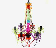 lustre candelabro color 6 braços