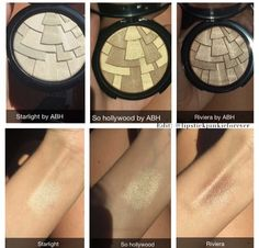 "A peek at the upcoming Anastasia Beverly Hills Illuminator Highlighters in ""STARLIGHT"", ""SO HOLLYWOOD"", and ""RIVIERA""! To be released in August 2015."