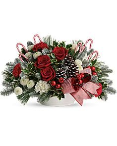 Christmas Flowers Delivery Louisa KY - Farmhouse Memories Christmas Flower Arrangements, Christmas Centerpieces, Christmas Decorations, Holiday Decor, Floral Arrangements, Christmas Flowers, Winter Flowers, Christmas Wreaths, Christmas Ideas