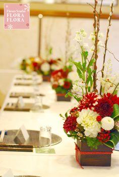 Wedding 和の装花 : FLORAFLORA*precious flowers*ウェディングブーケ会場装花&フラワースクール*