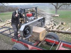 band mill - Google Search Portable Bandsaw Mill, Portable Saw Mill, Portable Band Saw, Homemade Chainsaw Mill, Homemade Bandsaw Mill, Diy Bandsaw, Diy Cnc, Woodworking Ideas Table, Woodworking Tools