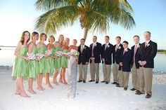 Vineyard Vines wedding on the beach? Perfect.