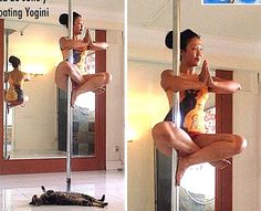 Floating yogini - one move where pole and yoga come together!