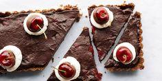 Ghirardelli's No-Bake Dark Chocolate Cherry Tart