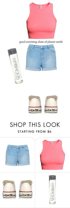 """""""Gutter sluts and bubble butts (Shane Dawson army)"""" by lillianwest ❤ liked on Polyvore featuring Forever New, H&M and Converse"""