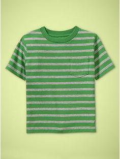 stripe pocket t  crisp green  all sizes  #137599  Buy two or more11.00 each