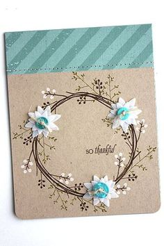 So Thankful Card by Heather Nichols for Papertrey Ink (August 2015)