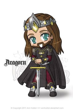 lord of the rings chibi | Chibi Aragorn by ~AnnHutton on deviantART
