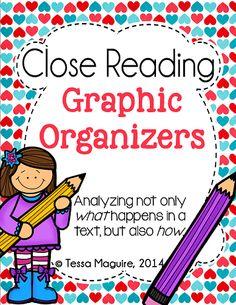 Close Reading Graphic Organizers