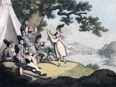 Some time ago we saw the story of Mrs. Middleton, the wife of a British soldier, who took several Americans prisoner at the battle of Trois Rivieres in 1776. Mrs. Middleton was one of several thousand wives who accompanied their British soldier husbands to America, or married them in America, and experienced the hardships and dangers of military life in garrisons, on ships, in encampments, and on campaigns. We know a great deal about these women in terms of their roles in the army ...