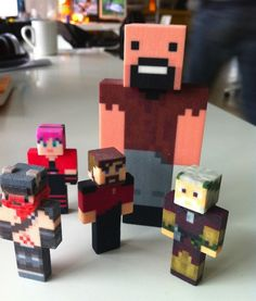 Minetoys: 3D Print Your Own Minecraft Character, pixelated awesomeness for your desk.
