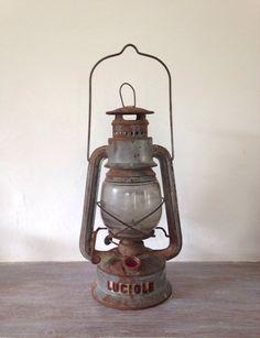 Ancienne lampe tempête à huile Luciole par oldfrenchmemories