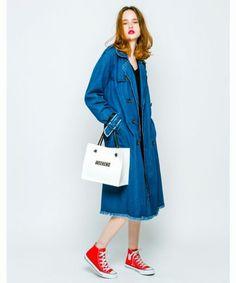 デニム素材のトレンチコートがおしゃれ♡冬のファッションアイテム デニムコート コーデを集めました♪