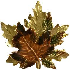 Beautiful Fall Leaf Brooch Pin Kenneth Cole