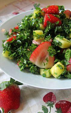 Tutti Fruitti Kale Salad and Citrus Honey Dressing / http://bamskitchen.com