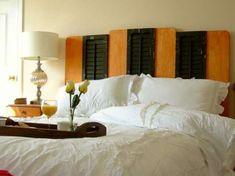 Reciclaje creativo de persianas: fotos ideas DIY - Reciclar persianas para cabeceros de cama