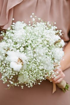 Bouquet of Baby's Breath and Cotton