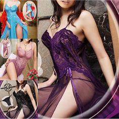 Hot Sale Womens Sleepwear Plus Size 4XL 5XL 6XL Mesh Women Sexy Lingerie Clothes