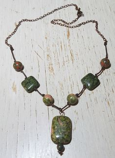 BSBP REVEAL! This knotted necklace turned out gorgeous, the copper color of the chain compliments the unakite jasper. I do not do much with gemstones, but this is a beautiful stone, one of nature's most healing crystals of the heart and mind resonating with the frequency of love, compassion and kindness.