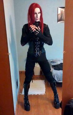 Crimson Goth Guys, Beautiful Men, Gothic, Amazing, Style, Fashion, Cute Guys, Swag, Moda