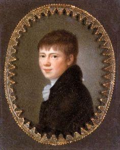 Heinrich von Kleist (Miniature by Peter Friedel, 1801)