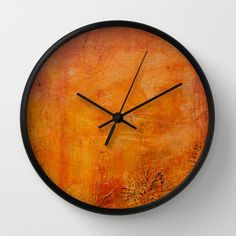 Abstract art wall clock decorative textured effect by NewCreatioNZ