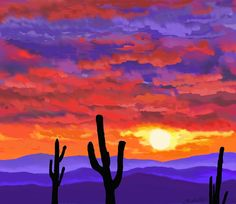 desert paintings - Google Search