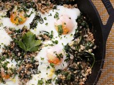 Skillet Barley With Kale and Eggs | Serious Eats : Recipes