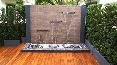 gartenbrunnen modernes design gartengestaltung ideen