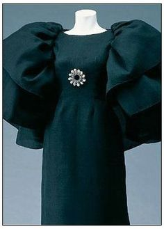 Silk gazar dress 1964 by Balenciaga