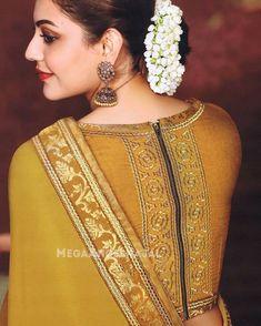 Indian wedding blouse design for silk sarees - ArtsyCraftsyDad Blouse Designs High Neck, Fancy Blouse Designs, Sari Blouse Designs, Saree Blouse Patterns, Designer Blouse Patterns, Designer Saree Blouses, Saree Jacket Designs, Lehenga, Anarkali