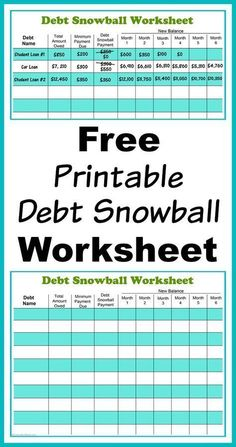 Free Printable Debt Snowball Worksheet- Perhaps the best way to pay down your debt is with the debt snowball method! Use my free printable debt snowball worksheet to get started! paying down debt, debt free, debt repayment, budgeting, frugal living Financial Peace, Financial Tips, Financial Planning, Financial Dashboard, Financial Literacy, Retirement Planning, Planning Excel, Planning Budget, Debt Repayment