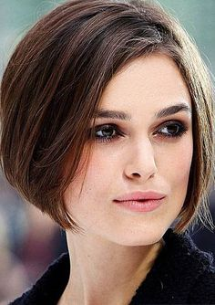 Keira Knightley Above The Chin Trendy Bob Hairstyle